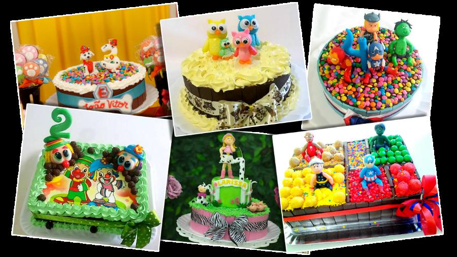 bolos decorados com técnicas ensinadas no curso de cake pops