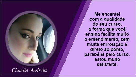 Depoimento Claudia Andreia